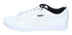 Zapatillas Puma Mujer Urbana Smash V2 L Perf Blanca Negra-29
