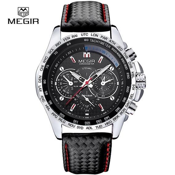 Relógio Masculino Quartz De Pulso | Pulseira De Couro | Luxo