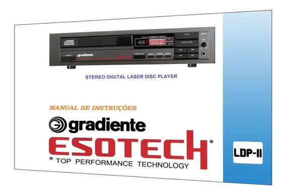 Manual Do Cd Player Gradiente Esotech Ldp-ii (a Cores)