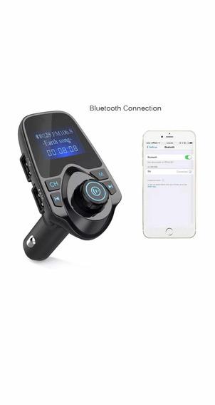 Transmissor Fm Bluetooth E Carregador Veicular Celular Usb