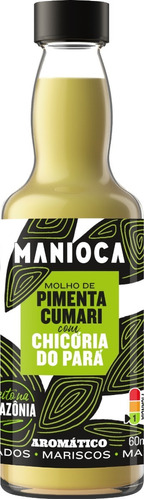 Imagem 1 de 4 de Molho De Pimenta Cumari Com Chicória Do Pará 60ml - Manioca