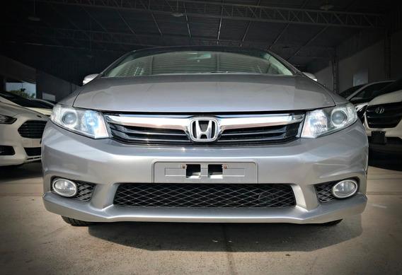 Honda Civic Lxl 1.8 Aut, Prata, 2012/12