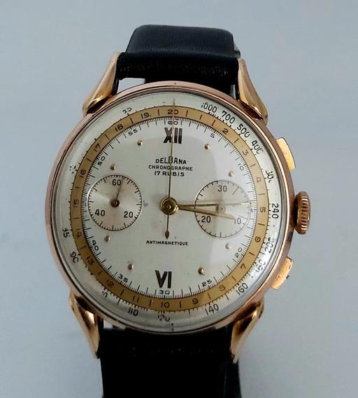 Relogio Vintage Delbana 2 Marcadores Chronograph C1930