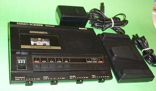 Sanyo Cvr 5040memoscriber Microcassette W/transcriptor I