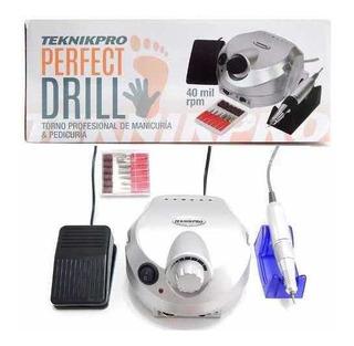 Teknikpro Perfect Drill Torno Manicuria Pedicuria 40mil Rpm