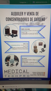 Alquiler De Concentradores De Oxigeno Portatiles