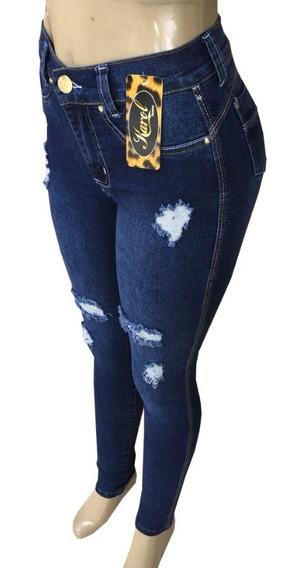 Kit 3 Calça Jeans Hot Pants Cintura Alta - Cos Alto