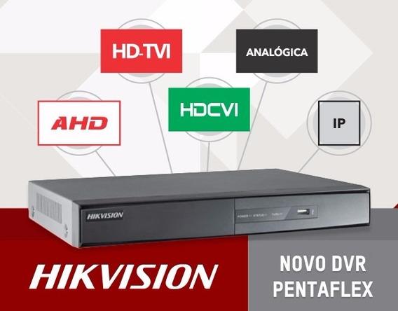 Dvr 16 Canais 1080p Hdtvi Hdcvi Ahd Ip 5x1 F1/n Hikvision