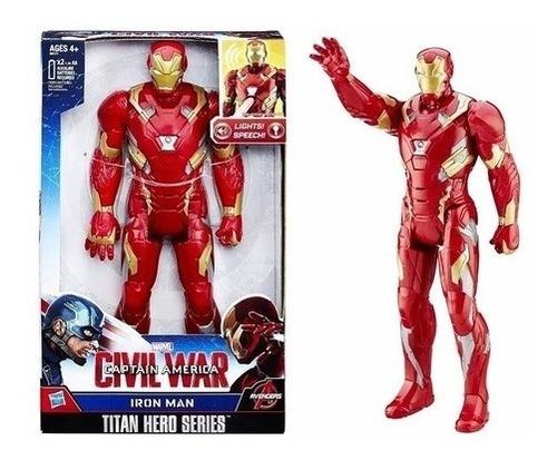 Imagem 1 de 4 de Boneco Homem De Ferro Eletrônico Titan Hero Hasbro B6177