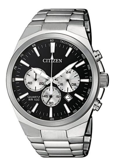 Reloj Citizen Hombre Crono 100m Fecha Taquimetro An817059e