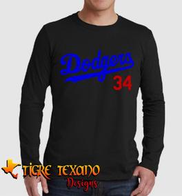 Playera Manga Larga Mlb Dodgers Los Angeles M.1 T T Designs