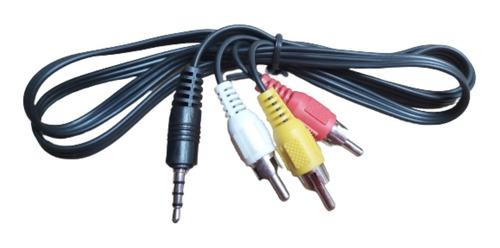 Cable Audio Y Video 3 En 1  3.5mm A Rca 1 Metro 10 Unidades