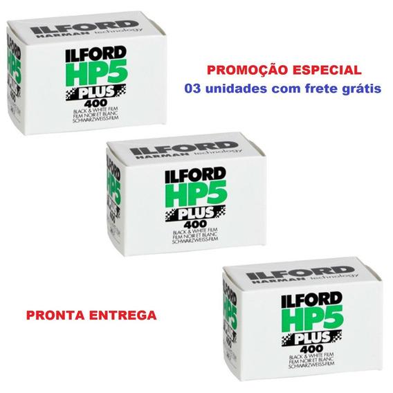 Filme 35mm Ilford Hp5 Iso 400 - Rolo Com 36 Poses 3 Unidades