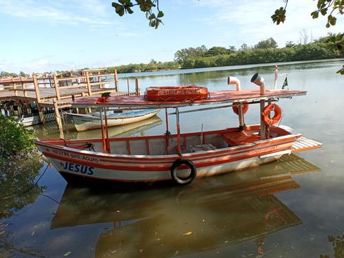 Barco De Madeira Pesca, Recreio E Lazer
