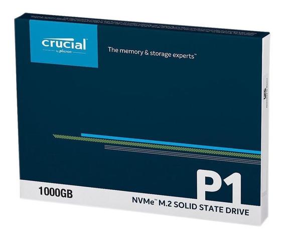 Crucial Ssd P1 1tb 3d Hd M.2 2280 Pcie Nvme Nand