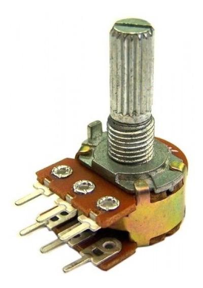 Potenciômetro Linear - Duplo - 100k - L20 - Kit 2 Unidades