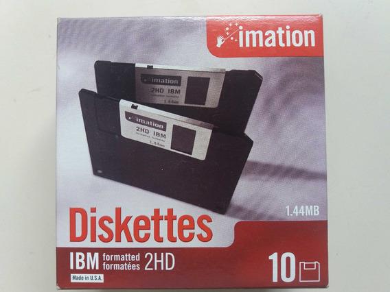 Diskettes 3.5 2hd 1.44mb Imation Precio X Caja 10u Sbna Gde