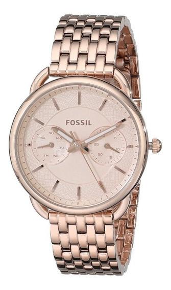 Reloj Fossil Es3713 Original Dama Mujer Color Oro Rosado