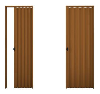 Puerta Plegable Pvc 10mm Color Completa 0.82 X 2.10 Mts - Ab