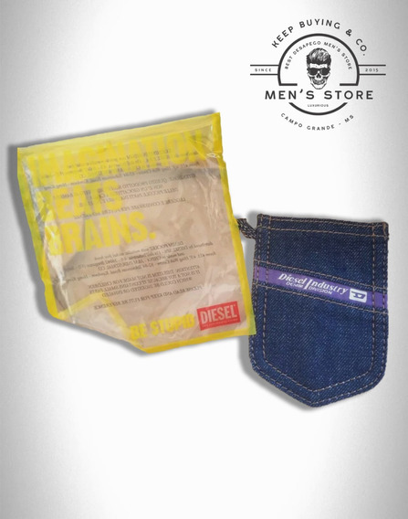Chaveiro Denim Jeans Mini-bolso Diesel