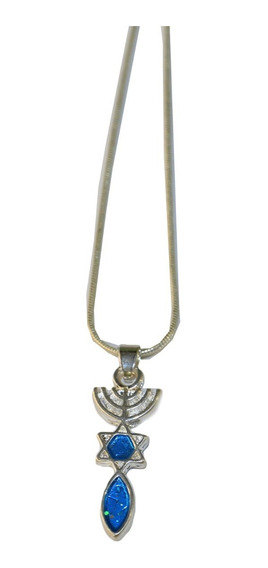 Gargantilha/colar/corrente Com Pingente Simbolo Messiânico