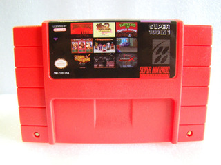 Cartucho Snes Gen: Rojo Juegos Super Nintendo 100 In 1