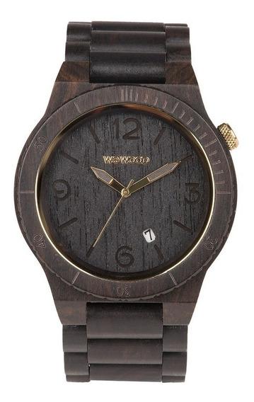 Relógio Wewood Alpha Black Gold + Frete Grátis