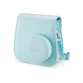 Bolsa De Couro Instax Mini 9 Azul Aqua (original)