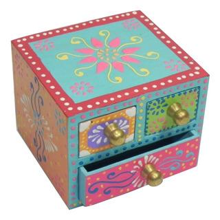 Caja De Madera De Colores Con 3 Cajones 3.2x3x2.4
