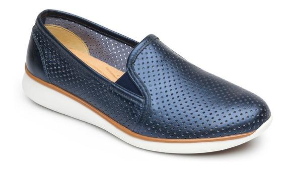 Zapato Confortable Dama Flexi Sneaker 28202 Marino 22-26 765-406 T4