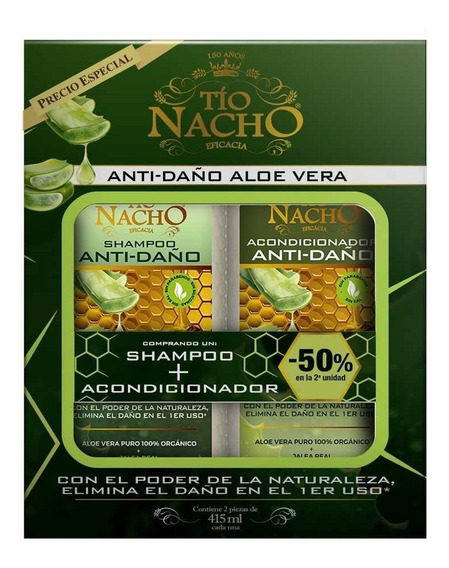 Tio Nacho Promo Anti-daño Aloe Vera Shampoo + Acondicionador