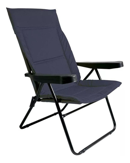 Cadeira Alfa Azul 4 Posições Com Porta Copos 002302 Mor