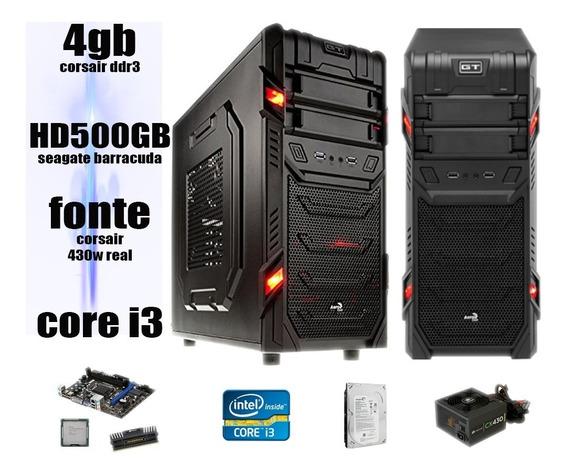Cpu Gamer I3 3.06 4gb Corsair Hd500gb Fonte 430w
