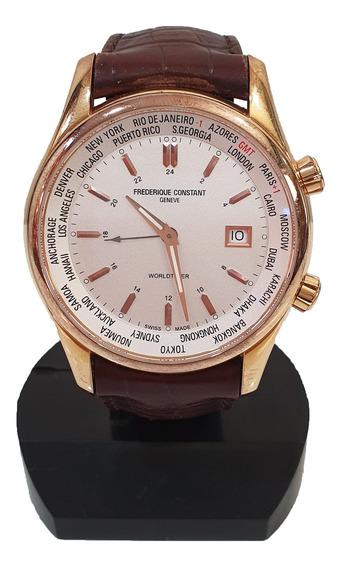 Relógio De Pulso Frederique Constant Worldtimer Réplica