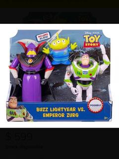 Set Articulado Buzz Y Zurg + Alíen. Toy Story Nuevo Original