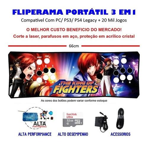 Imagem 1 de 3 de Fliperama Portátil Slim 3 Em 1 - Kof