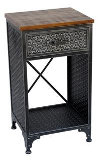 Mueble Metal Y Madera 1 Cajón