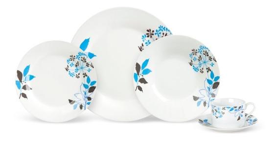 Jogo De Jantar Porcelana 20 Peças Floral Bloom 27 D184258