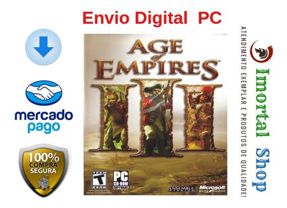 Age Of Empires 3 Completo Ptbr + Brinde Mídia Digital Pc