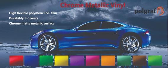 Vinilo Metalizado Mate Moldeable 1.52m Polgraf