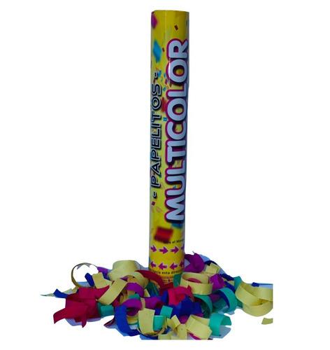 Cañón Lanza Papel Multicolor X 1 - Cotillon Papel Picado