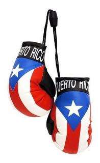 Puerto Rico Flag Mini Guantes De Boxeo Para Automovil Espejo