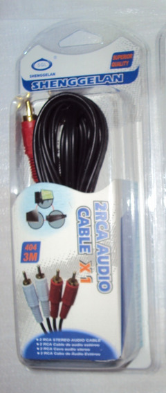 Cabo 2 Rca Audio Stéreo 3m