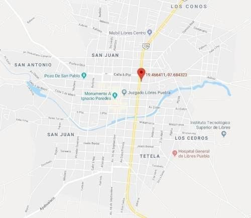 Terreno Urbano En El Centro De Libres, Puebla
