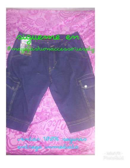Pantalones Jeans Corto Para Caballeros Y Niños La Docena