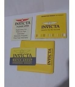 1 Manual Card Invicta 100% Original Novo Carta Registrada