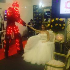 Robot Led Fuegos Fríos Co2 Show De Robot Alquiler De Robot