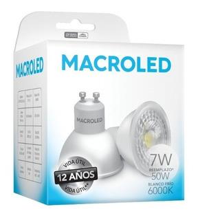 Lampara Led Dicro 7w Pvc Gu10 Luz Fria Macroled