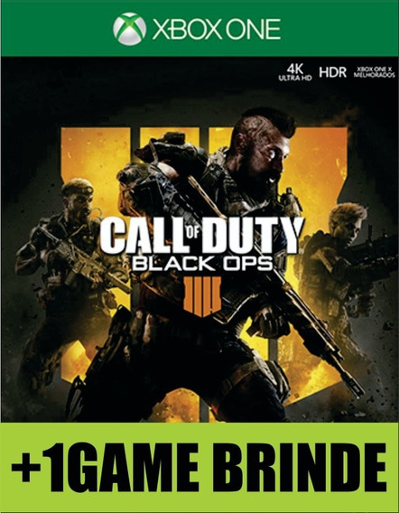 Call Of Duty Black Ops 4 Xbox One Mídia + 1 Game Brinde