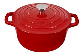 Caçarola Redonda 24 Cm - Vermelha - Modelo 2019